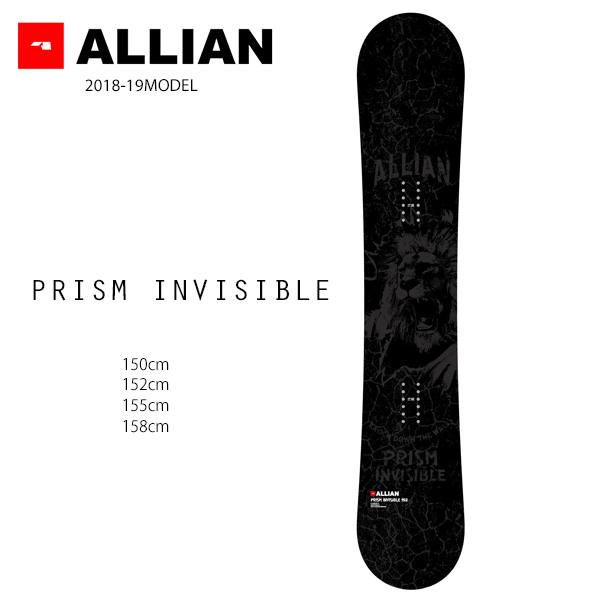 予約販売 11月中旬入荷予定 スノーボード 板 ALLIAN アライアン PRISM INVISIBLE プリズム インビジブル 18-19モデル メンズ FF G11
