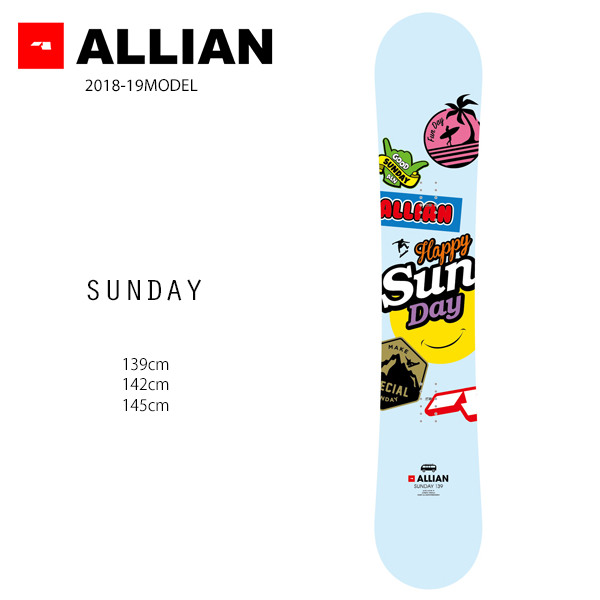 スノーボード 板 ALLIAN アライアン SUNDAY サンデイ 18-19モデルレディース FF G11