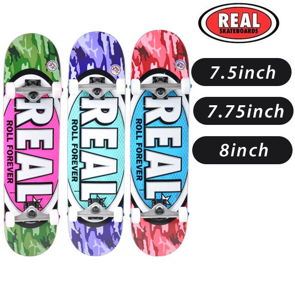 送料無料 スケートボード コンプリートセット REAL リアル NEW AWOL OVALS FF G12 MM