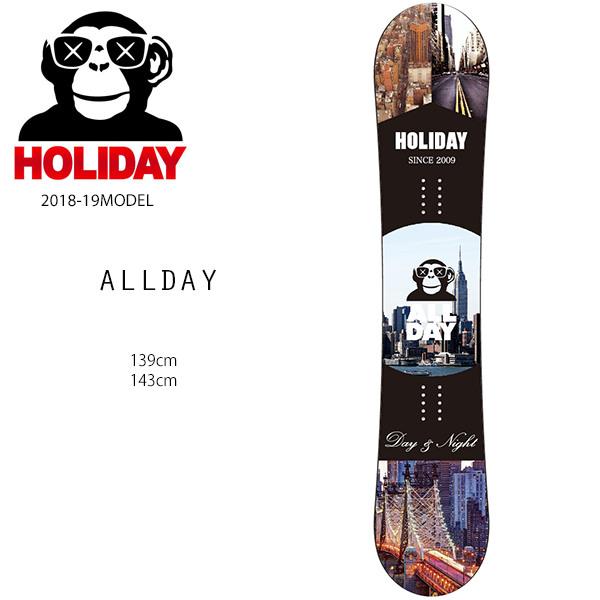 クーポン対象商品 予約販売 10月中旬入荷予定 スノーボード 板 HOLIDAY ホリデー ALLDAY オールデイ 18-19モデルレディース FF G27