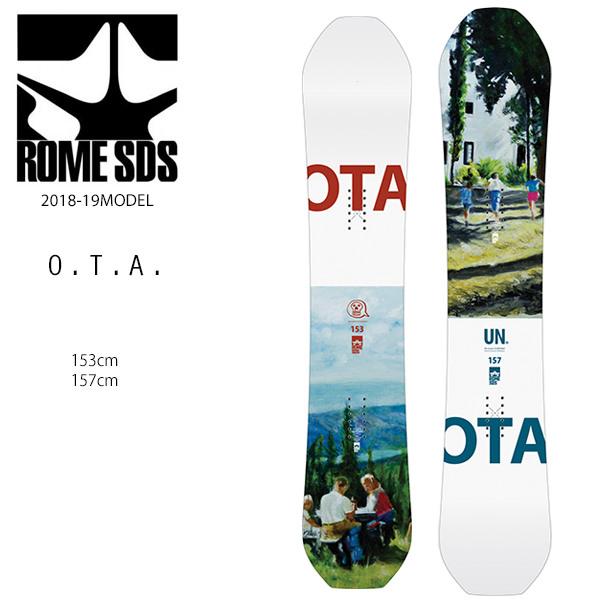 クーポン対象商品 予約販売 10月中旬入荷予定 スノーボード 板 ROME SDS ローム O.T.A. OTA 18-19モデル メンズ FF G23