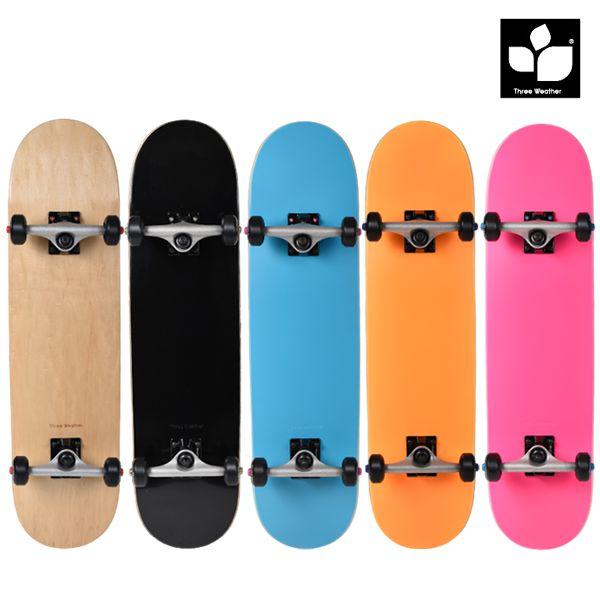 送料無料 スケートボード コンプリートセット THREE WEATHER スリーウェザー SBMR26 ムラサキスポーツオンラインストア限定 FF G30