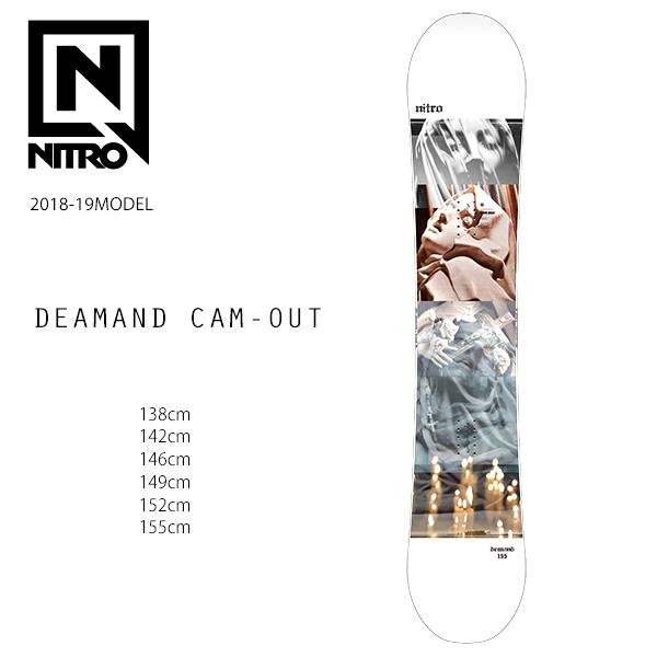スノーボード 板 NITRO ナイトロ DEMAND CAM-OUT デマンド カムアウト JAPAN LIMITED 日本限定モデル 18-19モデル FF H10