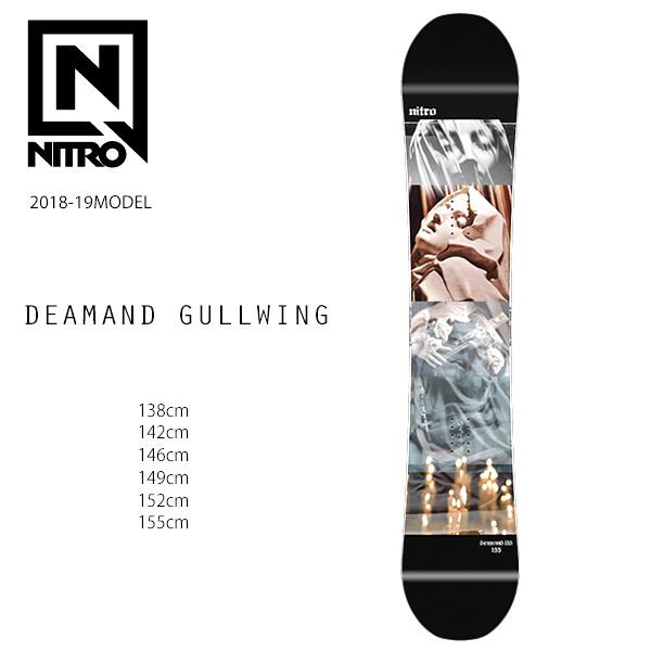スノーボード 板 NITRO ナイトロ DEMAND GULLWING デマンド ガルウィング JAPAN LIMITED 日本限定モデル 18-19モデル FF H10