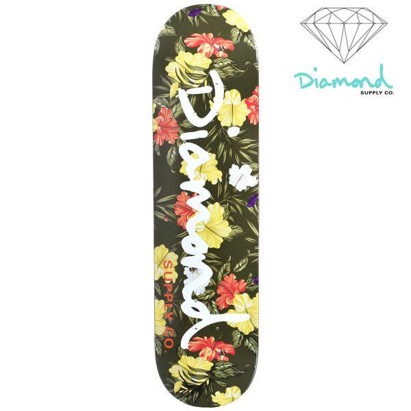 送料無料 スケートボード デッキ Diamond Supply Co. ダイヤモンド サプライ ALOHA FLORAL OG B18DMSK001 GG H7