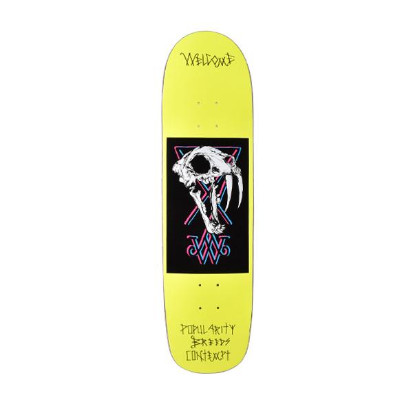送料無料 スケートボード デッキ WELCOME ウェルカム SABERSKULL ムラサキスポーツ限定 FF H9