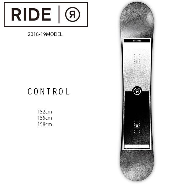 クーポン対象商品 予約販売 10月中旬入荷予定 スノーボード 板 RIDE ライド CONTROL コントロール 18-19モデル メンズ FF H18