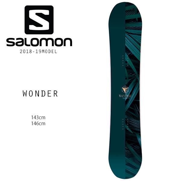予約販売 11月中旬入荷予定 スノーボード 板 SALOMON サロモン WONDER ワンダー 18-19モデルレディース FF H30