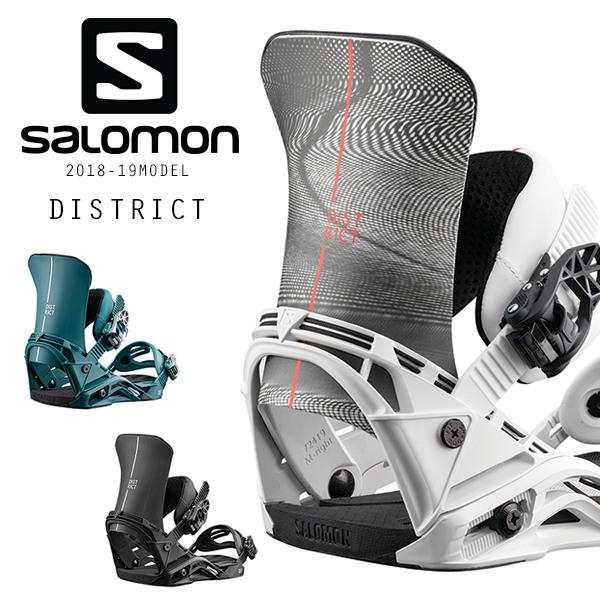 送料無料 スノーボード バインディング ビンディング SALOMON サロモン DISTRICT ディストリクト 18-19モデル メンズ FF I1