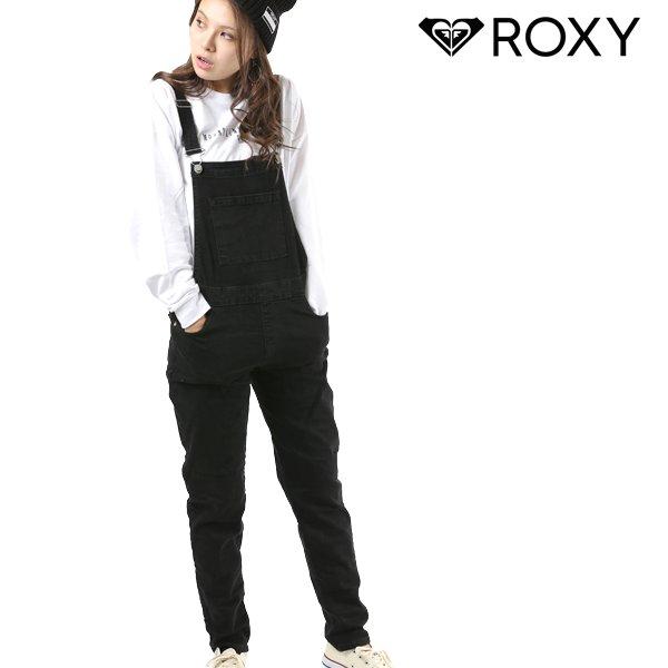 送料無料レディース サロペット ROXY ロキシー ERJDP03199 カジュアル ロンパン ロングパンツ オーバーオール 黒 ブラック FX3 H30