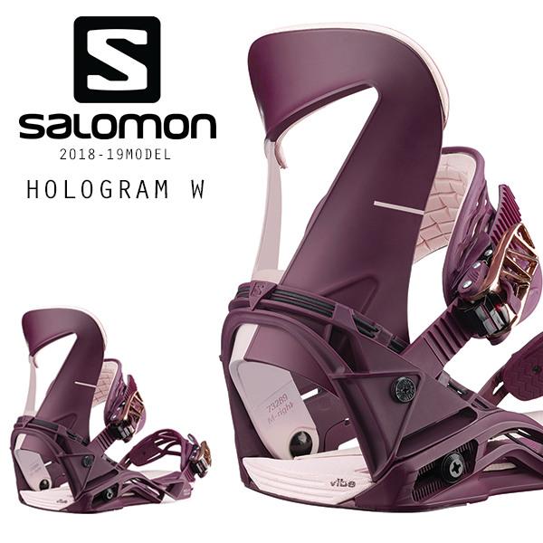 クーポン対象商品 予約販売 10月中旬入荷予定 送料無料 スノーボード バインディング ビンディング SALOMON サロモン HOLOGRAM W ホログラム 18-19モデルレディース FF I3