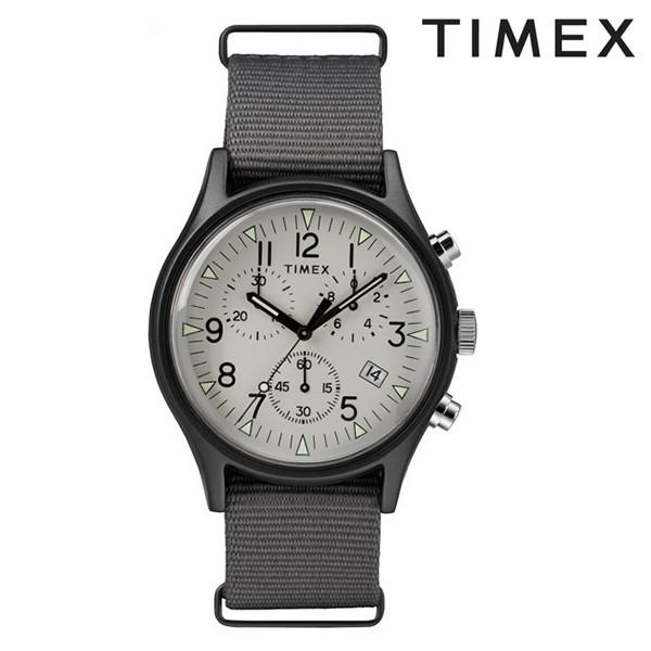 送料無料 時計 TIMEX タイメックス MK1 アルミニウム クロノ TW2T10900 ホワイト グレー アルミクロノグラフ FF J15 MM