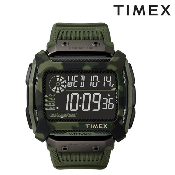 送料無料 時計 TIMEX タイメックス コマンドショック TW5M20400 オリーブグリーン FF J15 MM
