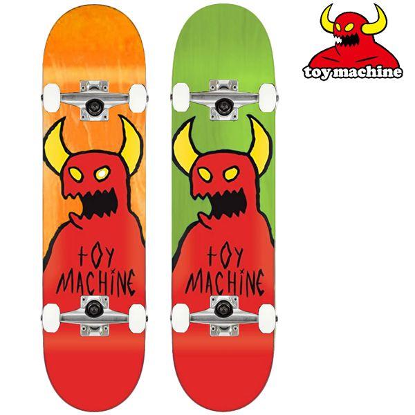 送料無料 スケートボード コンプリート セット TOY MACHINE トイマシーン C18004 SKETCHY MONSTER FF J24 MM
