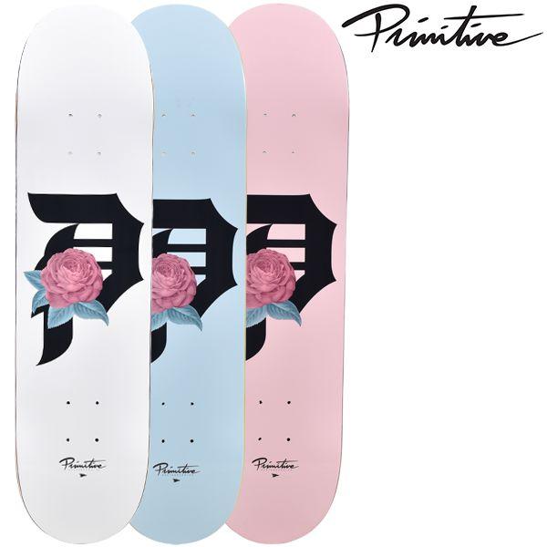 送料無料 スケートボード デッキ PRIMITIVE プリミティブ PM9 MR ROSEBUD ムラサキスポーツ限定 FF J24