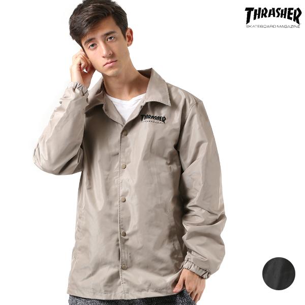 送料無料 メンズ ジャケット THRASHER スラッシャー TH5150 HOME TOWN コーチジャケット FF3 J23