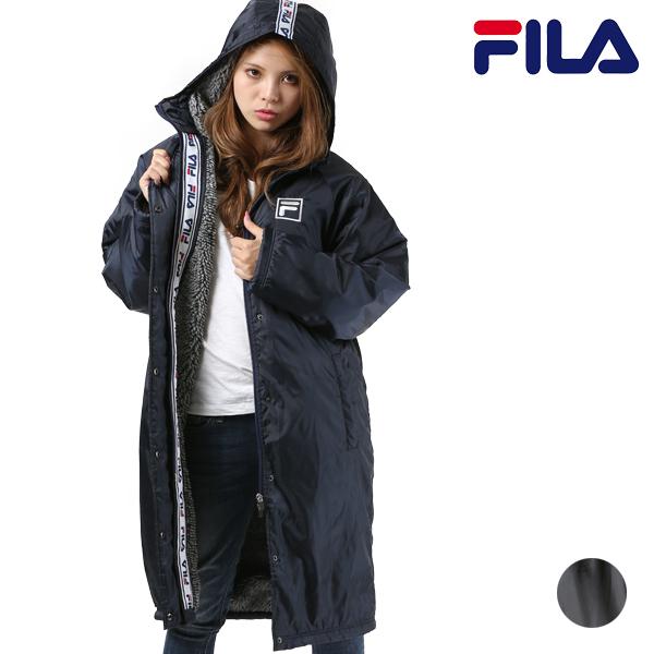 送料無料 レディース ジャケット FILA フィラ 448-913 ロングコート ベンチコート FX3 J27 MM
