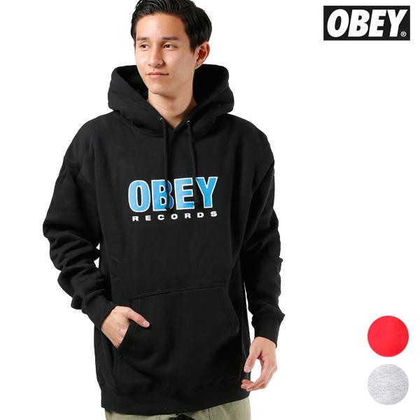 送料無料 メンズ パーカー OBEY オベイ 111731786 OBEY RECORDS 2 プルオーバー FF3 K13 MM