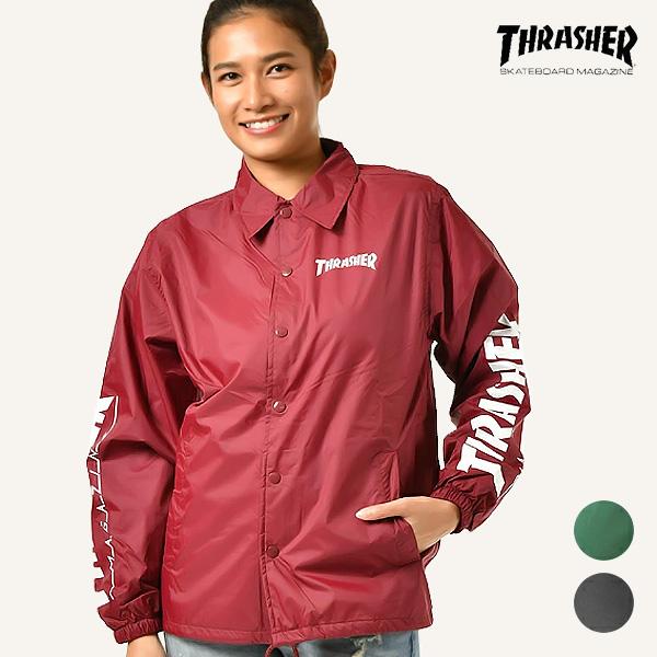 送料無料 レディース ジャケット THRASHER スラッシャー TH8901-SC L コーチジャケット GG L14