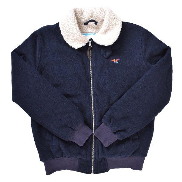 送料無料 メンズ ジャケット BY PARRA バイパラ 40200 topper harley wool jacket パーラ EE3 A14 MM 【返品不可】