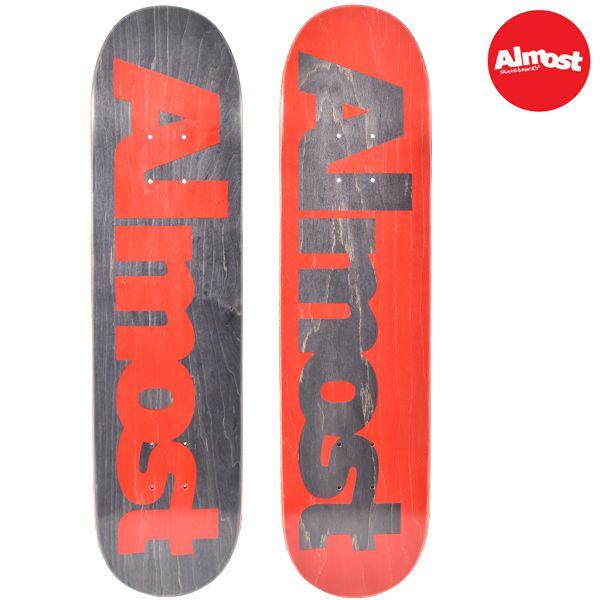 送料無料 キッズ スケートボード デッキ ALMOST オールモスト ULTIMATE LOGO GG A18