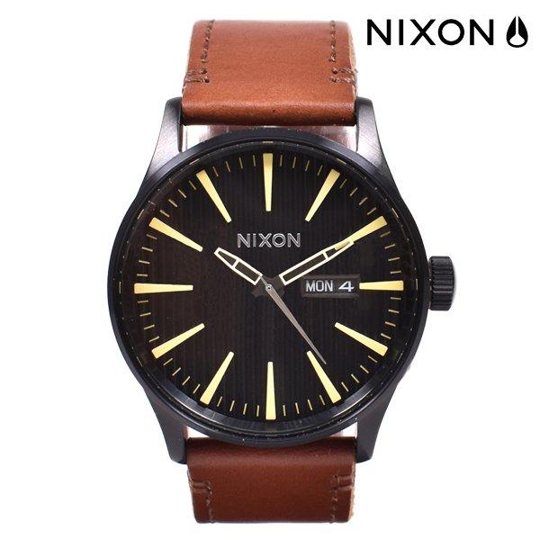 送料無料 時計 NIXON ニクソン A105 SENTRY LEATHER セントリーレザー 42MM FF B8