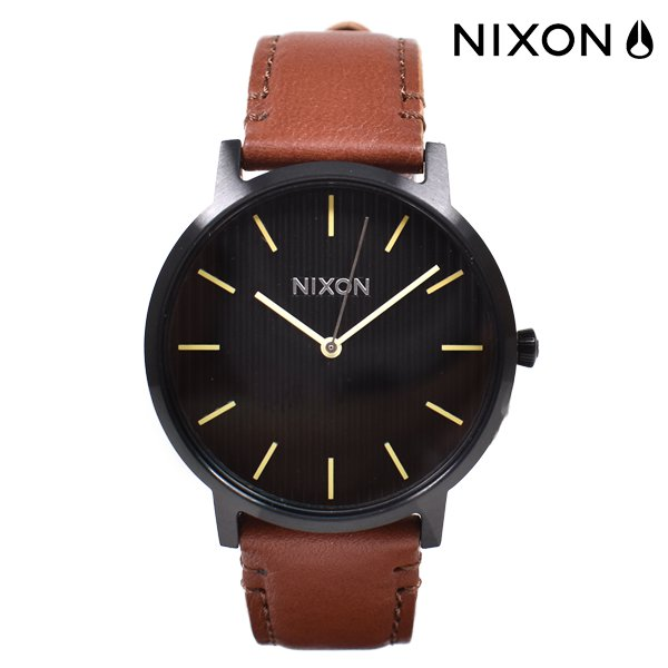 NIXON ニクソン PORTER LEATHER ポーターレザー 40MM 時計 A1058 FF B8