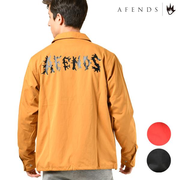 送料無料 メンズ ジャケット AFENDS アフェンズ 18D13-01 Waves アウター コーチジャケット コーチ カジュアル 長袖 ブルゾン ジャンパー 春 GX1 B15