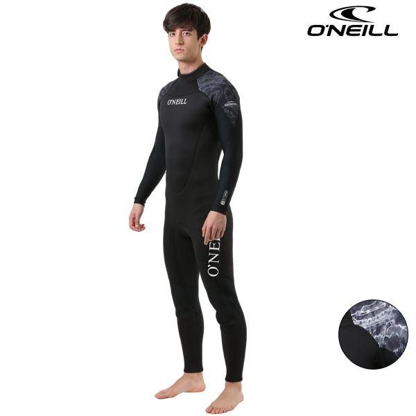 送料無料 SALE セール メンズ ウェットスーツ ジャージフルスーツ ジップタイプ ONEILL オニール SUPER FREAK 3×2mm MS-3560 ムラサキスポーツ限定 GG C30