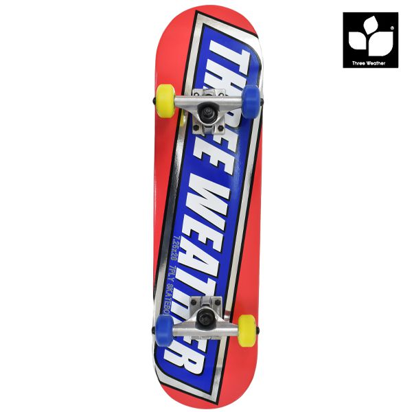 送料無料 キッズ スケートボード コンプリートセット THREE WEATHER スリーウェザー SBMR2702 7.25インチ GG C26 MM
