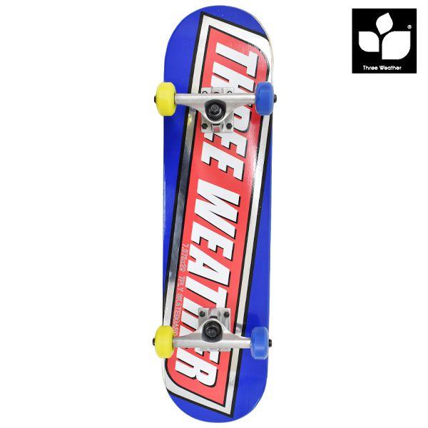 送料無料 キッズ スケートボード コンプリートセット THREE WEATHER スリーウェザー SBMR2703 7.375インチ GG C26 MM