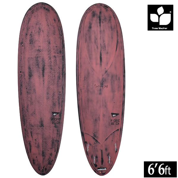 サーフボード ショート THREE WEATHER スリーウェザー PACIFIC BEACH パシフィックビーチ 6'6 GG D5 MM