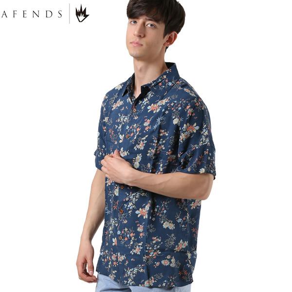 送料無料 メンズ 半袖 シャツ AFENDS アフェンズ M191202 Culture Wave Short Sleeve Shirt トップス カジュアルシャツ 春夏 GG1 D5 MM