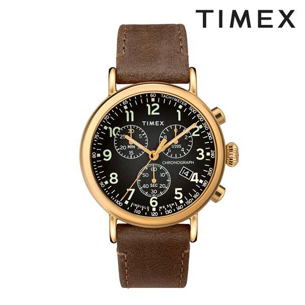 送料無料 時計 TIMEX タイメックス TW2T20900 スタンダード クロノグラフ グレー×ブラウン GG D9 MM