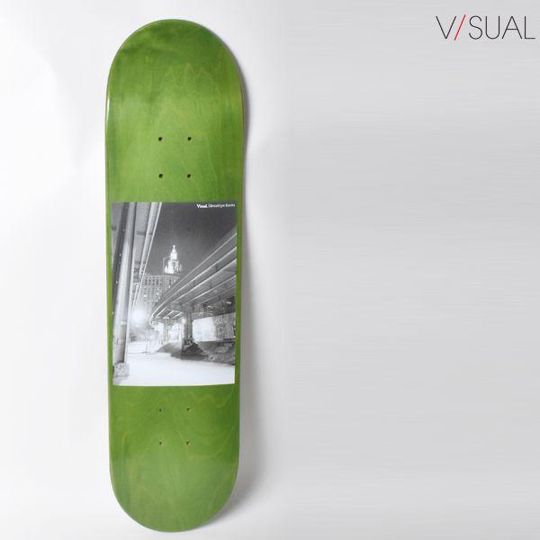 スケートボード デッキ V/SUAL ヴィジュアル VM6 MR BROOKLYN BANKS DECK 7.875インチ GRN VISUAL GG F13