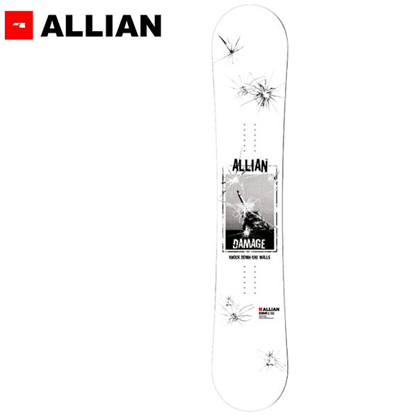 スノーボード 板 ALLIAN アライアン DAMAGE ダメージ 19-20モデル メンズ GG F28
