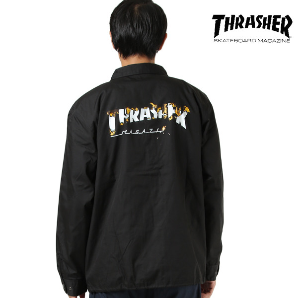 THRASHER スラッシャー メンズ ジャケット TH59219 T/C COACH JACKET GG I28