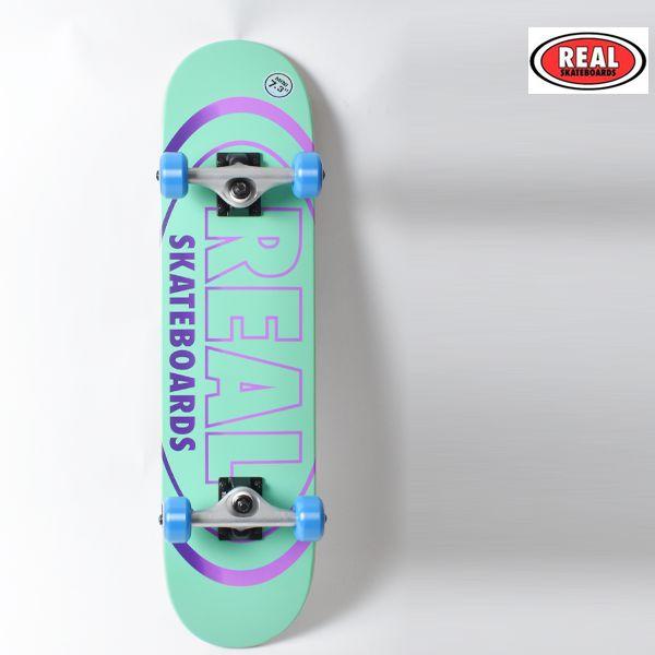 スケボー デッキ キッズ スケートボード コンプリートセット REAL リアル OVAL GLEAMS GG K4