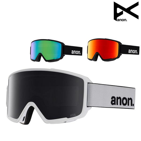 送料無料 スノーボード ゴーグル ANON アノン M3 Goggle + Spare Lens ASIAFIT アジアンフィット 18-19モデル メンズ FF K9