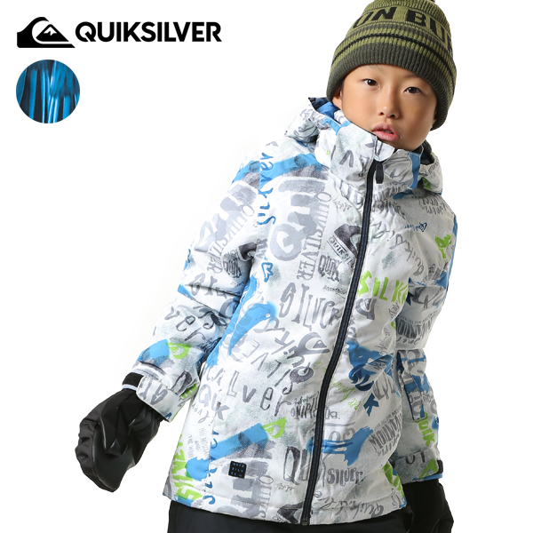 送料無料 スノーボード ウェア ジャケット QUIKSILVER クイックシルバー EQBTJ03079 18-19モデル キッズ ジュニア 130cm~150cm FX K22