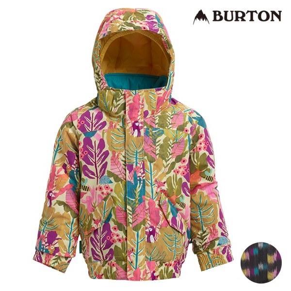 送料無料 スノーボード ウェア ジャケット BURTON バートン GIRLS MS WHIPLY JK 18-19モデル キッズ 100cm~110cm FF L3