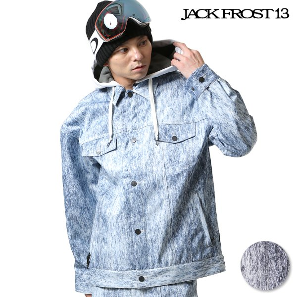送料無料 スノーボード ウェア ジャケット JACK FROST13 ジャックフロスト DENIM JK JFJ91505 18-19モデル メンズ FX I29
