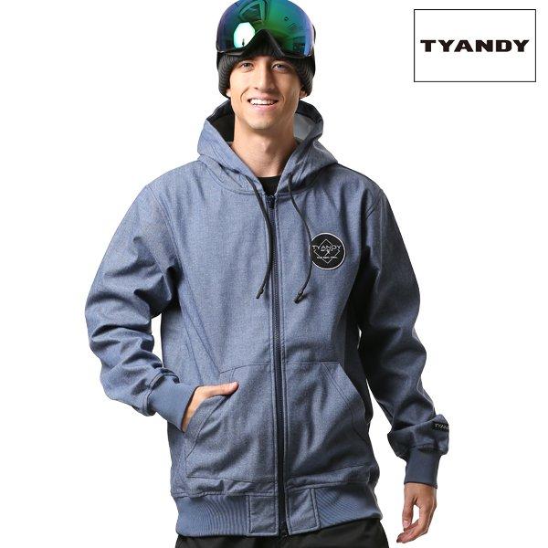 送料無料 スノーボード ウェア パーカー TYANDY ティアンディ TYJ91008D BONDED DENIM HOODY 18-19モデル メンズ FX J6
