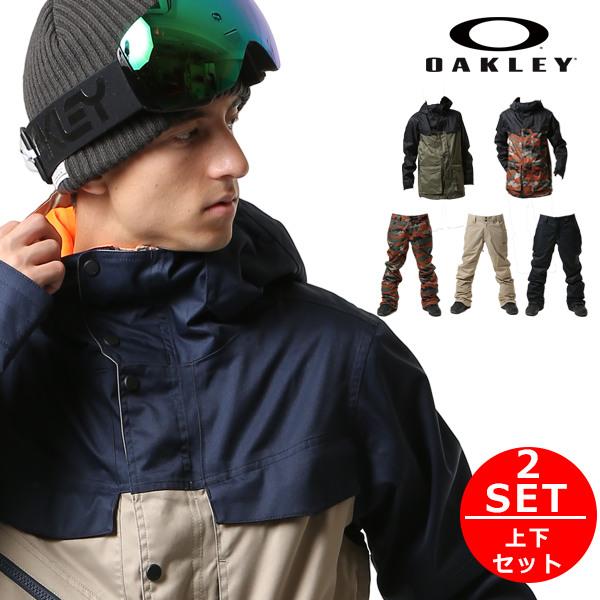OAKLEY オークリー スノーボードウェア メンズ 2点セット スノーボード ウェア ジャケット パンツ 上下 TIMBER JK JACKPOT PT 17-18モデル F1 L22
