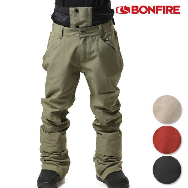送料無料 スノーボード ウェア パンツ BONFIRE ボンファイアー M BLACKLINED PANT BIMBBLJ 18-19モデル メンズ FF J30