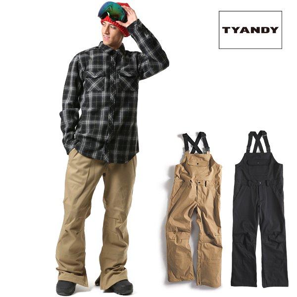 送料無料 スノーボード ウェア ビブパンツ TYANDY ティアンディ TYP91105 BONDED OVERALL 18-19モデル メンズ FX J8