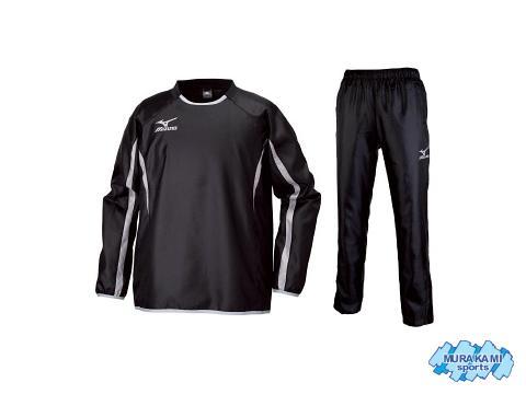 ミズノ P2ME5605&P2MF5605 09カラー ジュニア用ピステシャツ&パンツ [mizuno・サッカー&フットサル・ウインドブレーカー・上下セット・セール品]