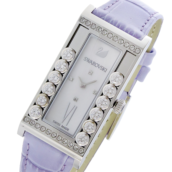 スワロフスキー SWAROVSKI ラブリークリスタルズ スクエア クオーツ レディース 腕時計 5096684 シェル 代引き 手数料無料 ギフト プレゼント クリスマス 誕生日 記念日 贈り物 人気 おしゃれ ペア 祝い セール 結婚式 お呼ばれ