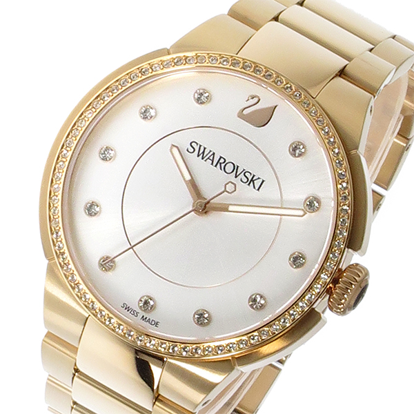 スワロフスキー SWAROVSKI シティ クオーツ レディース 腕時計 5181642 シルバー/クリアクリスタル 代引き 手数料無料 ギフト プレゼント クリスマス 誕生日 記念日 贈り物 人気 おしゃれ ペア 祝い セール 結婚式 お呼ばれ