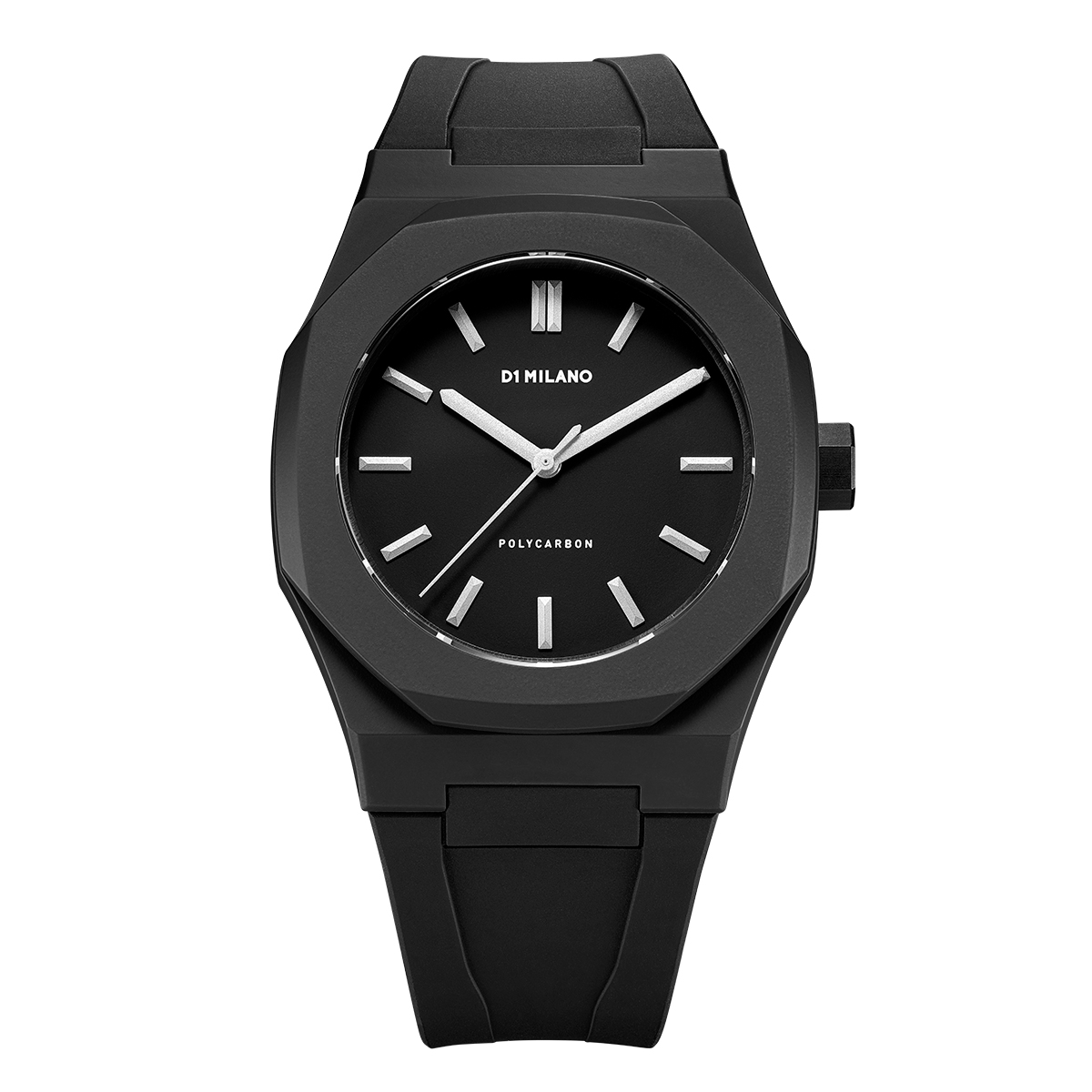 D1ミラノPCRJ02 Essential Watch Black with Silver Index with rubber strap 腕時計 メンズ レディース 有名人 愛用D1 MILANO ディーワン ミラノ 代引き 手数料無料 ギフト プレゼント クリスマス 誕生日 記念日 贈り物 人気 おしゃれ ペア 祝い セール 結婚式 お呼ばれ